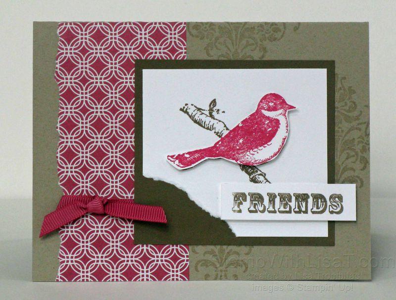 A4 Bird Friend Card