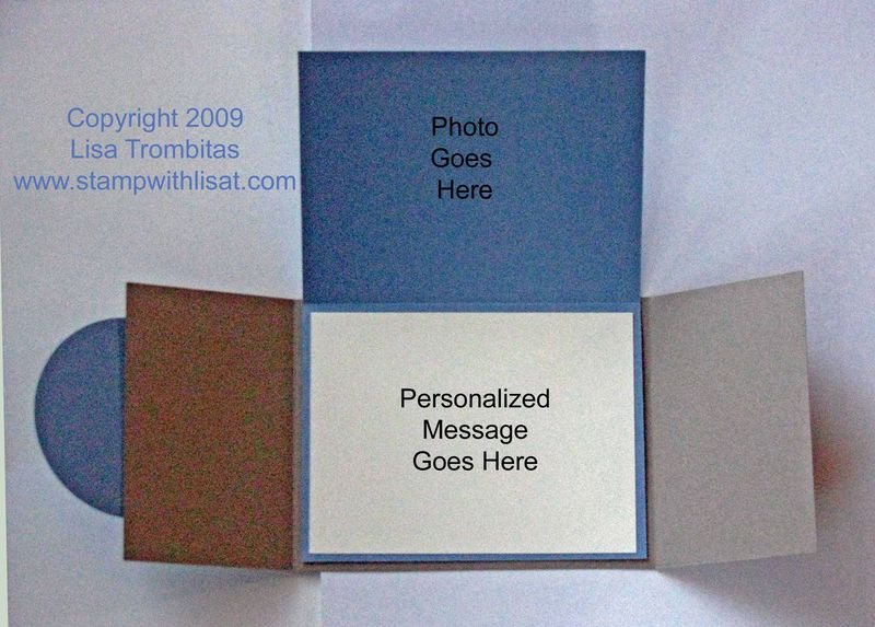 Gatefold Photo Card Inside